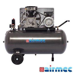 Airmec Zuigercompressor, 350L/min, 100L tank, 230V