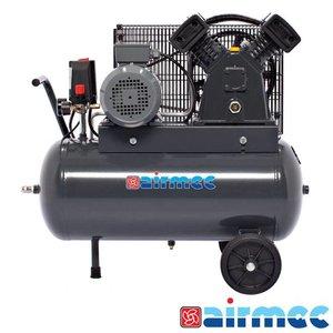 Airmec Zuigercompressor, 400L/min, 50L tank, 400V
