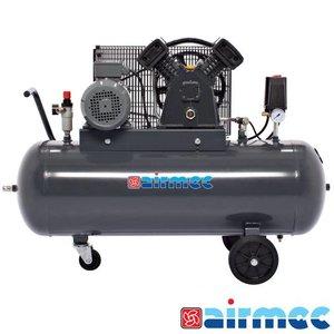 Airmec Zuigercompressor, 400L/min, 100L tank, 400V