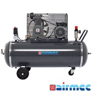 Airmec Zuigercompressor, 400L/min, 150L tank, 400V