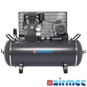 Airmec Zuigercompressor, 700L/min, 300L tank, 400V
