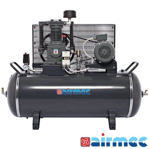 Airmec Zuigercompressor, 900L/min, 300L tank, 400V