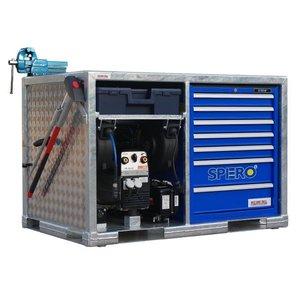 West Coast Tools Mobiele werkunit MUBE100 met Honda GX360 benzine motor