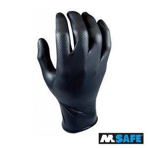 M-Safe Nitril Grippaz handschoen 25paar, S