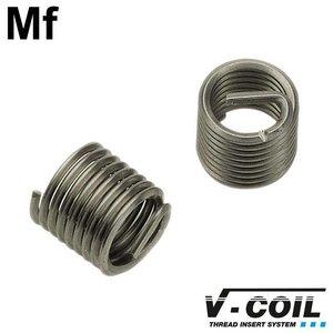 V-coil Schroefdraadinserts Mf 8 x 1.0, RVS, DIN 8140, Lengte: 1.0 D, 100st