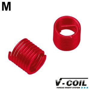 V-coil Schroefdraadinserts zelfzekerend M 6 x 1.0, RVS, DIN 8140, Lengte: 1.5 D, 100st