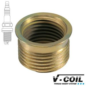 V-coil Draadbus Mf 14 x 1.25, voor bougies, Lengte: R 17.5mm, 10st