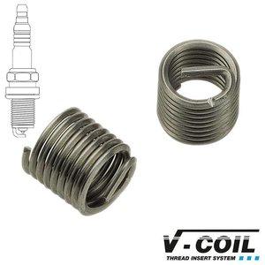 V-coil Schroefdraadinserts Mf 14 x 1.25, RVS, voor bougie schroefdraad, Lengte: 12.40 mm, 5st