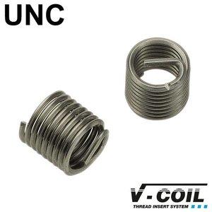 V-coil Schroefdraadinserts UNC 1/4 x 20, RVS, DIN 8140, Lengte: 1.0 D, 10st