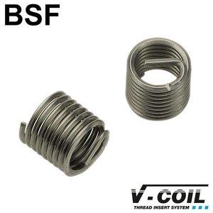 """V-coil Schroefdraadinserts BSF 1"""" x 10, RVS, DIN 8140, Lengte: 2.0 D, 5st"""