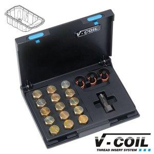 V-coil Draadreparatieset Mf 15 x 1.5 voor carterplug schroefdraad