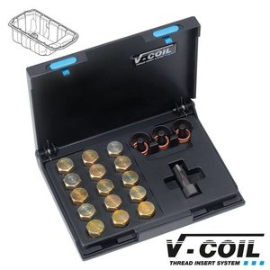 V-coil Draadreparatieset Mf 17 x 1.5 voor carterplug schroefdraad