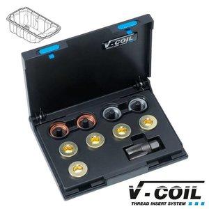 V-coil Draadreparatieset Mf 24 x 1.5 voor carterplug schroefdraad