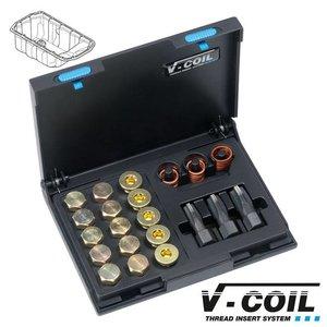 V-coil Draadreparatieset voor carterpluggen Mf 13; Mf 15; Mf 17 x 1.5