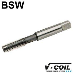 V-coil STI-Korte machinetap, HSS-G, vorm D, BSW 1/4 x 20