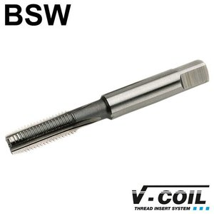 V-coil STI-Korte machinetap, HSS-G, vorm D, BSW 1'' x 8