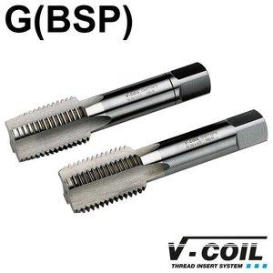 V-coil STI-tapset, 2-dlg, HSS-G, G 1/8 x 28