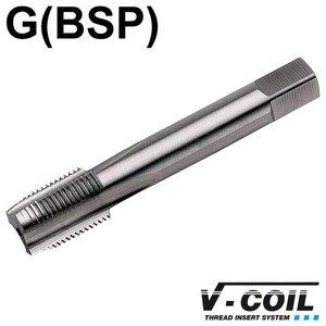 V-coil STI-Korte machinetap, HSS-G, vorm D, G 1/8 x 28