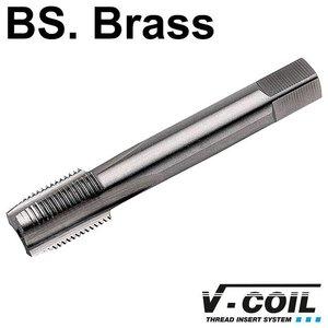 V-coil STI-Korte machinetap, HSS-G, vorm D, BS. 1/4 x 26