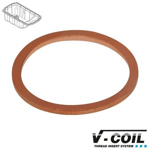 V-coil Dichtring type OS, koper, 15 x 19 x 1.5mm, 25st