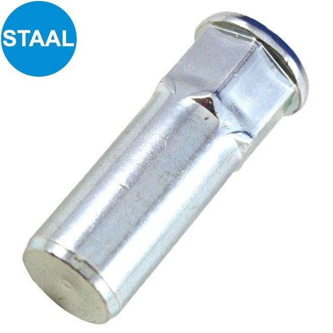 Gesloten - Half zeskant - Cilindrisch - Staal