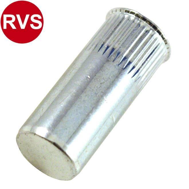 Gesloten - Gereduceerd verzonken - RVS A2