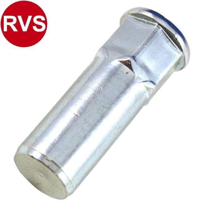 Gesloten - Half zeskant - Cilindrisch - RVS A2