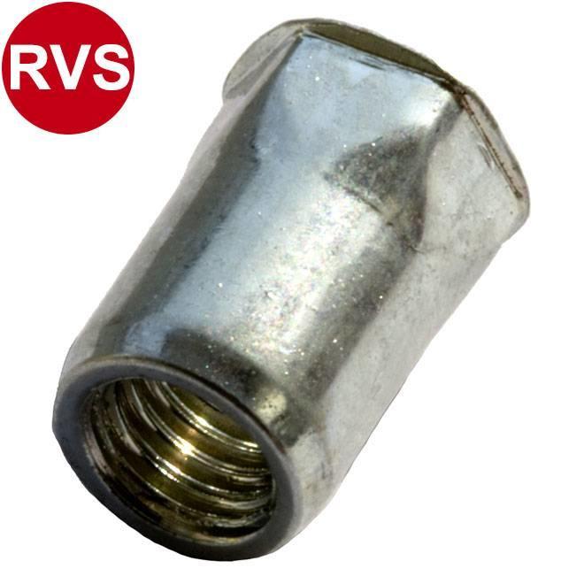Half zeskant - Gereduceerd verzonken - RVS A2
