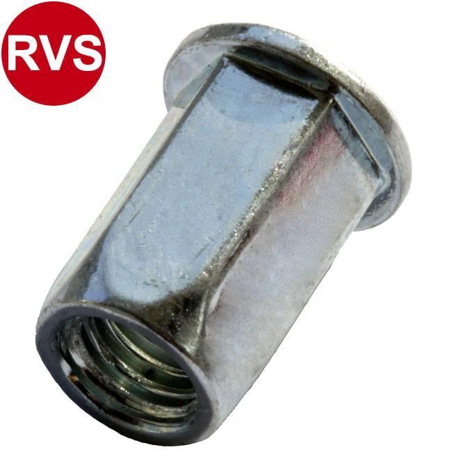 Zeskant - Cilindrisch - RVS A2