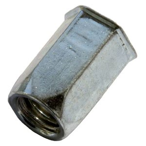 West Coast Tools Blindklinkmoeren zeskant met gereduceerde verzonken kop - M6 - klembereik: 0.5-3.0mm - RVS A2 - 250 stuks