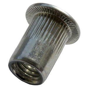 West Coast Tools Blindklinkmoeren met clilindrische kop - M6 - klembereik: 3.1-6.0mm - staal - 250 stuks