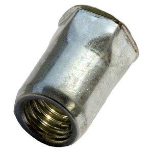 West Coast Tools Blindklinkmoeren half zeskant met gereduceerde verzonken kop - M6 - klembereik: 0.5-3.0mm - staal - 250 stuks