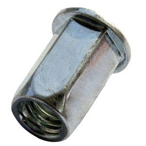WCT Blindklinkmoeren zeskant met cilindrische kop - M6 - klembereik: 0.5-3.0mm - staal - 250 stuks