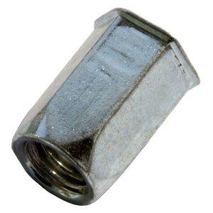 West Coast Tools Blindklinkmoeren zeskant met geredruceerde verzonken kop - M4 - klembereik: 0.5-3.0mm - staal - 250 stuks