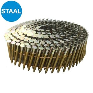 West Coast Tools Coilnagels 3,1x90mm - verzinkt - geringde schacht - 3.150st