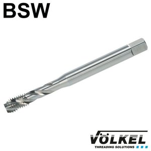 Völkel Machinetap, DIN 371, HSS-E, vorm C / 35° SP met spiraal, linkse draad BSW 5/32 x 32