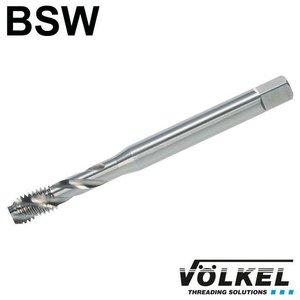 Völkel Machinetap, DIN 371, HSS-E, vorm C / 35° SP met spiraal, linkse draad BSW 3/16 x 24