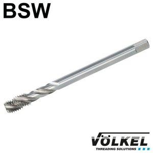 Völkel Machinetap, DIN 376, HSS-E, vorm C / 35° SP met spiraal, linkse draad BSW 1'' x 8