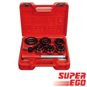 """Super-Ego Draadsnijset Compact 600 BSPT 3/8"""" - 1/2"""" - 3/4"""" - 1"""" - 1.1/4"""""""