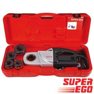 "Super-Ego Supertronic 1250 draadsijmachine BSPT 1/2""- 3/4""- 1""- 1.1/4"""