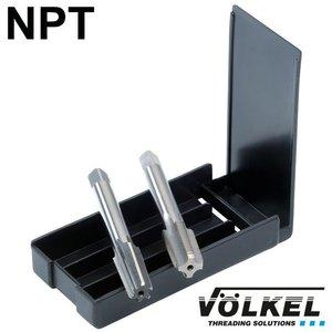Völkel TwinBox machinetap + ruimer, HSS-G, vorm C, NPT 1.1/4 x 11.5 (63597)