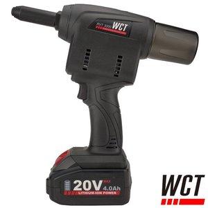 WCT Accu blindklinktang 4.0-6.4mm, 20V, 2 x 4.0Ah (RVT 3000)