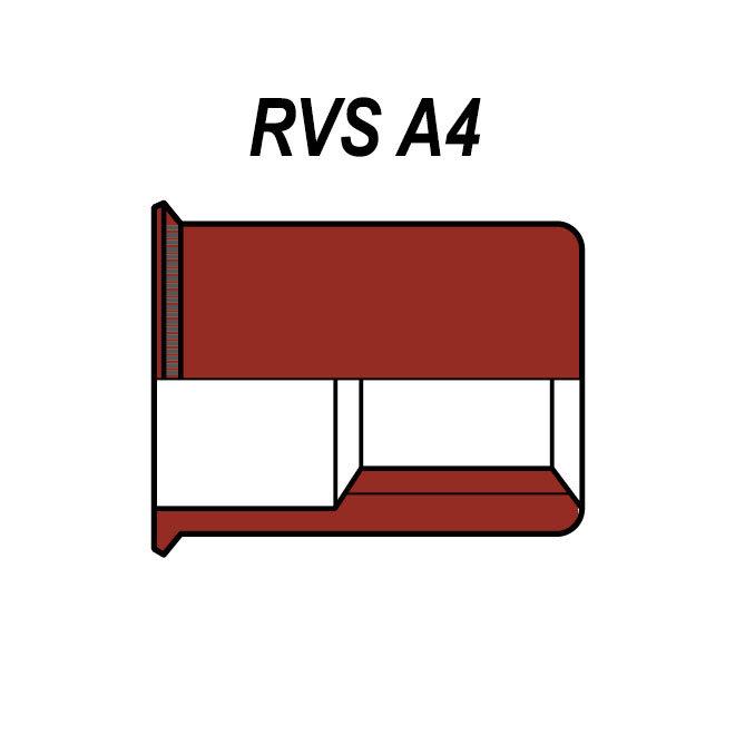Gereduceerd verzonken  - RVS A4