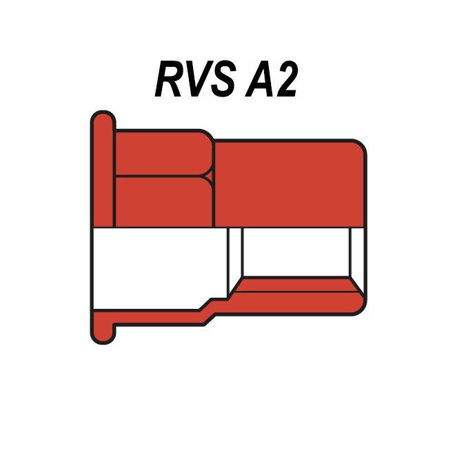 Half zeskant - Cilindrisch - RVS A2