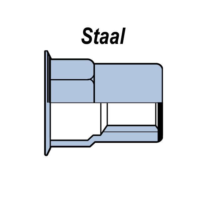 Gesloten - Half zeskant - Gereduceerd verzonken - Staal