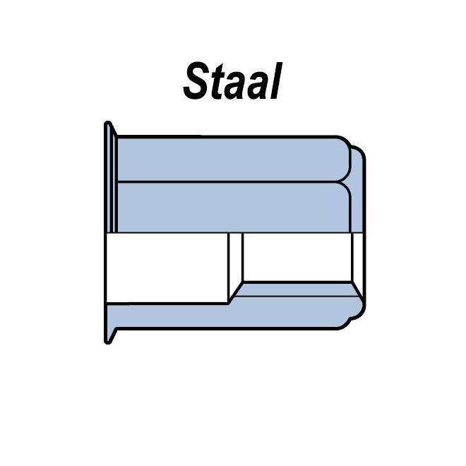 Zeskant - Gereduceerd verzonken - Staal