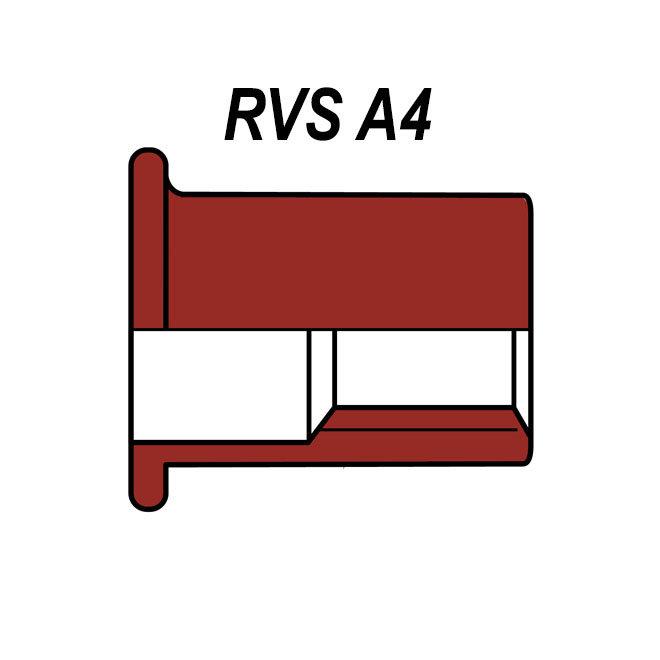 Cilindrisch - RVS A4