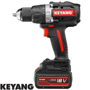 Keyang Accu boor-schroefmachine DD20BLH100E, 13mm, 100Nm, 18V, 2 x 5.0Ah