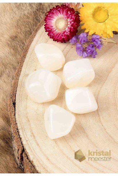 Witte  Agaat  trommelstenen