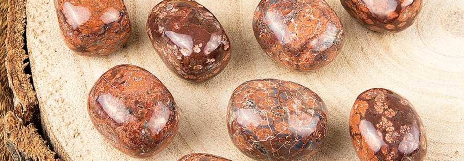 Luipaard Jaspis trommelstenen EX